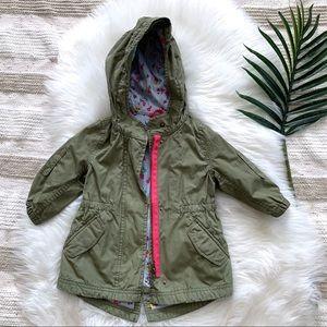 BABY GAP▪️Girls Floral Parka Jacket 12-18mo